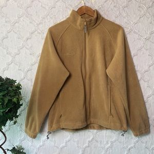 Columbia Light Brown Fleece Jacket